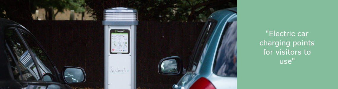 Electric charging pod