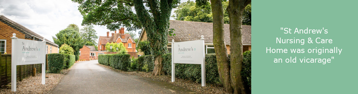 Entrance to St Andrews Care Home