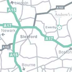 Map showing St Andrew's Care Home