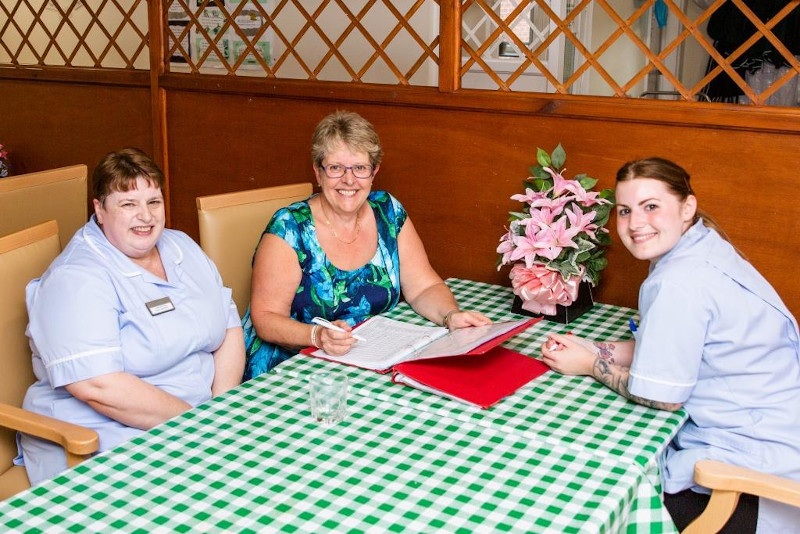 Working together at care home