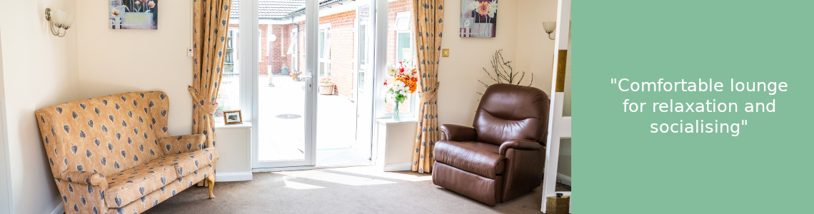 Inside lounge of care home