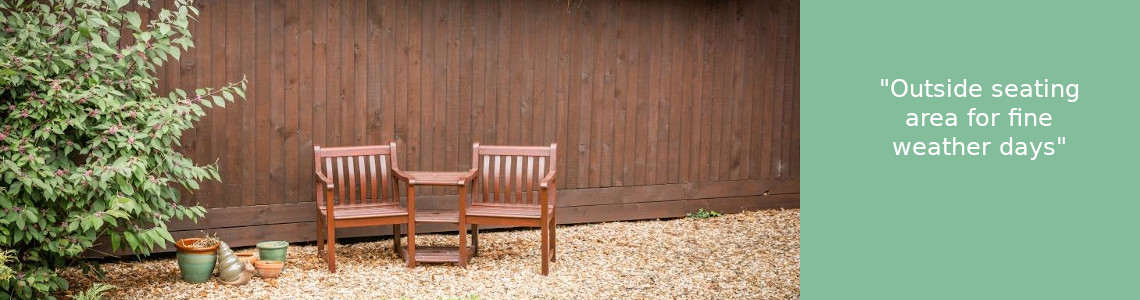 Care home outside seating